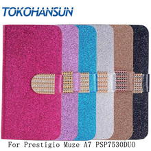 Buy TOKOHANSUN Fundas Prestigio Muze A7 PSP7530DUO Case Bling Flip PU Luxury Wallet Diamond 2017 New Hot Leather cover for $3.59 in AliExpress store