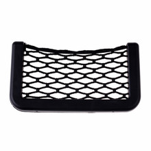 2017 Car Styling Bag Storage Car Storage Net Automotive Pocket Organizer Bag For Mobile Phone Holder Auto Pouch Adhesive Visor(China)