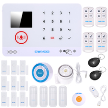 OWSOO 3G SMS Alarm Security System Wireless LCD Display Water Door Sensor Wired & Wireless Siren Kit Phone App Remote Auto-dial(China)