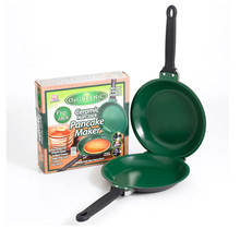 Urijk Flip Jack As Seen on TV Orgreenic Ceramic Green Non-Stick Cookware Pancake Maker Dia 19cm Bakeware Cake Accessories Tools