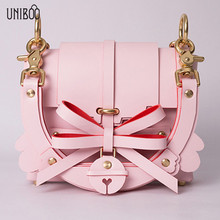 Sweet girl small bow pink tote handbag novelty lady brand designer luxury one shoudler bag cute summer crossbody messenger bag