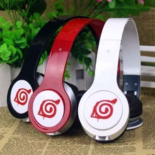 MLLSE Anime Naruto Leaf Foldable Headband Headphone Earphone 3.5mm Stereo Bass Music Gaming Headset for Iphone Samsung Xiaomi PC