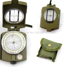 1 PC Professional Army Outdoor Use Military Geology Pocket Prismatic Compass + Pouch(China)