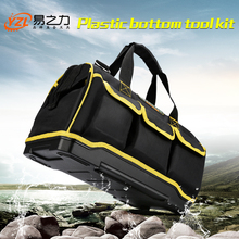 "New 2018  Tool bags 12"" 15""17"" 19""1680 D Oxford Cloth  bag Top Wide Mouth Electrician bags (China)"