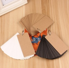Hot selling 3 Color 100*50mm.retro Kraft paper MiNi Card set.retail great deal(China)