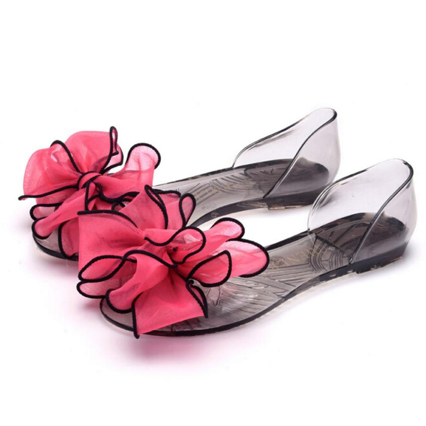 2017 New Fahional Elegant Female Plastic Beach Shoes Jelly color Flower Flat Casual Sandals Best Gift Drop Shipping Hot Dec27<br><br>Aliexpress