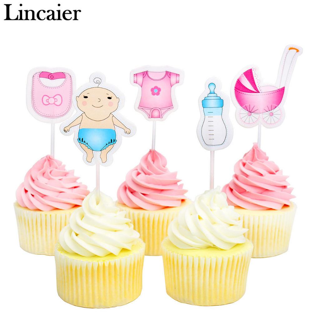 Cupcake birthday party promotion shop for promotional for Baby shower cupcake picks decoration