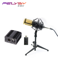 Professional Condenser Microphone BM 800 Condenser ktv Microphone Pro Audio Studio Vocal Recording Mic Karaoke 48v phantom power(China)