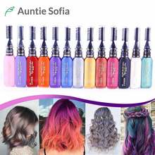 13 Colors One-off Hair Color Dye Temporary Non-toxic DIY Hair Color Mascara Washable One-time Hair Dye Crayons(China)