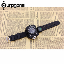 Ourpgone New Arrive 1* Hiking Outdoor Tools Lamp Military Tactical LED Sport Wrist Watch Flashlight Compass Light Free shipping!