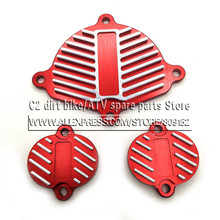 YinXiang 150cc YX 160cc engine CNC aluminum trims kit dress up kit (3piece) with gasket Engine Cylinder Head Cover