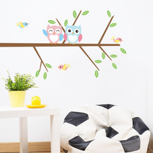 New Arrival owls on the Tree flying birds Wall Stickers decals For Kids Rooms 1024 Children Baby Nursery Rooms Decoration