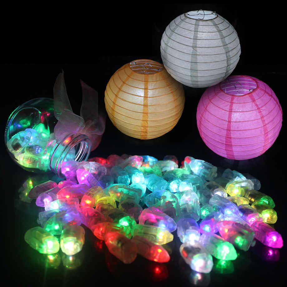20pcs/lot Colorful Led Balloon Lights White Mini LED ball lamps for Paper Lanterns Balloons Wedding Party Home Decoration