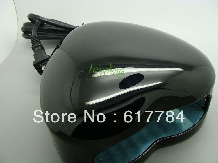 portable led nail dryer 3W LED Light nail art Gel Cure Lamp Heart Shape UV Lamp Nail Dryer 100-120v,60Hz black<br>