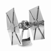 Hot Sale Star Wars DIY 3D Metal Puzzle Model Toys For Kids Tie Fighter Jigsaw Puzzle Children Toys
