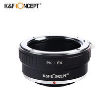 K&F Concept PK-FX Camera Lens Mount Adapter Ring Pentax PK lens Fujifilm FX Mount Camera Adapter Fuji X-Pro1 X-E1 X-M