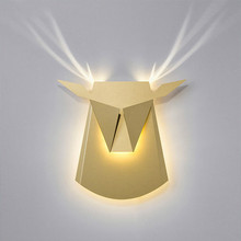 Nordic decorative wall sconces led bed headboard lamp indoor stairway lighting antler design wall mounted led wall lamp bedroom(China)