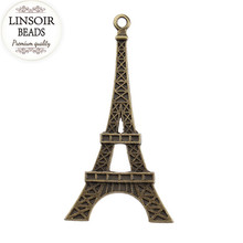Buy 10pcs/lot wholesale Jewelry Accessory pendant antique silver/Bronze Color Eiffel Tower Charms making bracelet necklace F461 for $1.50 in AliExpress store