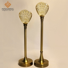 2pcs/setEuropean factory direct bedroom home creative Candleholder Decoration metal plating glass candlestick wedding decoration