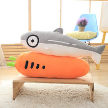 2016 Free Shipping 1pcs Giant Simulation Fish Carrot Plush Pillow Throw Pillow Home Decor Creative Gifts for Kids ST525(China)