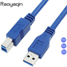 High Quality USB 3.0 A Male AM to USB 3.0 B Type Male BM Extension Printer Wire Cable USB3.0 Cable  0.5m 1m 1.8m
