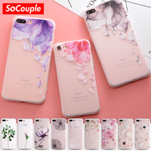 SoCouple Relief TPU Phone case For iphone 7 7plus 5 5s SE Case Ultra-thin Simple Scrub Silicone Phone Cases For iphone 6 6S Plus