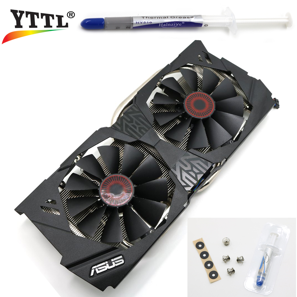 New &amp; Original Cooling Heat sink Replacement For ASUS STRIX GTX970 GTX980 R9 370 380 Graphics Video Card Cooling Fan FD10015H12S<br><br>Aliexpress