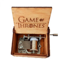 DROPSHIPPING Hand Crank Game of Thrones Engraved Wooden Box play Movie Music Best Toy Gift For fans Unique Christmas Gift(China)