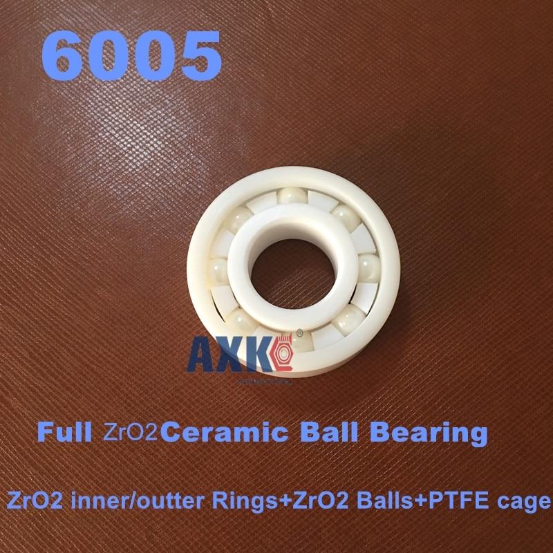 6005 Full Ceramic ZrO2 25x47x12 25mm/47mm/12mm ZrO2 Ceramic Ball Bearing<br>