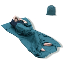 75*210cm Cotton Sleeping Bag Outdoor Travel Trip Hotel Camping Hiking Single/Double Healthy Sleeping Bag Liner(China)