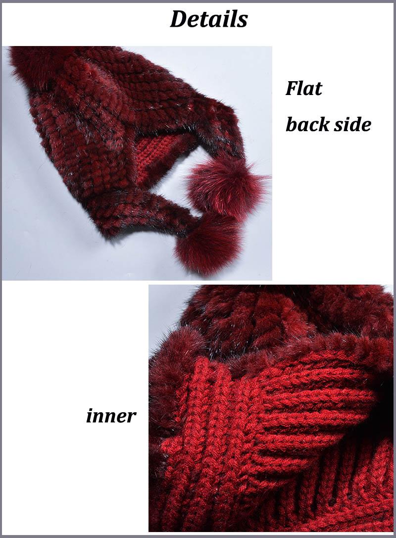 mink fur hat details