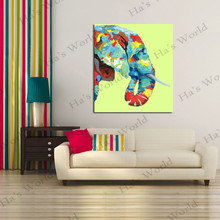 Lovely Animal Paintings Handpainted Art Canvas beautiful elephant Oil Painting Modern Abstract 100% Decor Art