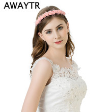 Stylish Flower Garland Floral Bridal Headband Hairband Wedding Prom Lace Flower headband Hair Accessories for Gift New Arrival