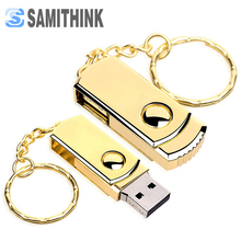 Metal Gift USB Flash Drive Classic Swivel Pendrive High Speed USB 2.0 Flash Pen Drive 64GB 32GB 16GB 8GB 4GB Support Custom Logo(China)