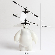 Big Hero Red & Whit Baymax Robot Suspension Induction Flight Helicopter Drone Remote Induction Control Aircraft