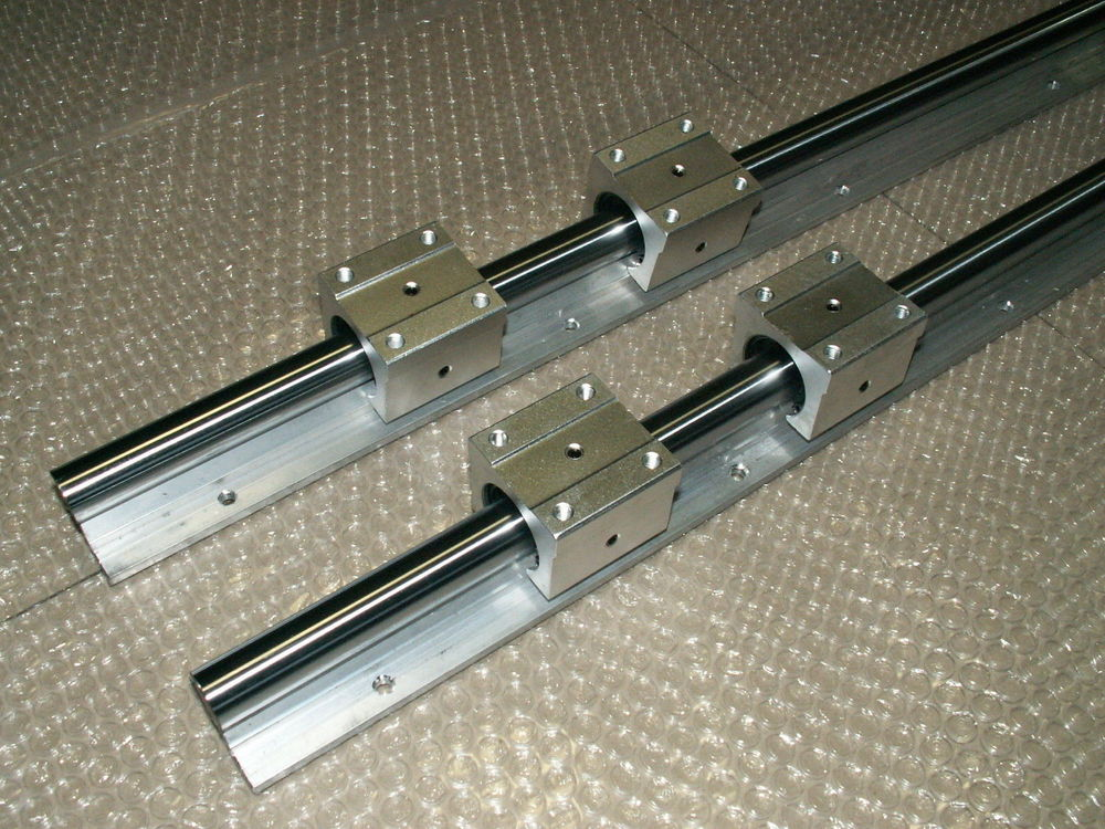 2pcs SBR12 -L1500mm Linear Rails shaft supports + 4pcs SBR12UU slide block<br>
