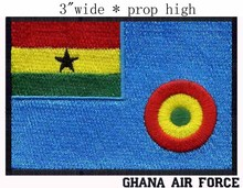"Ghana Air force Flag embroidery patch 3"" wide shipping/ Air signs /Ghana power/ force Ensign(China)"