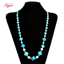 Jaasa vintage women's accessories Bohemian natural stone quality handmade beaded necklaces wholesale