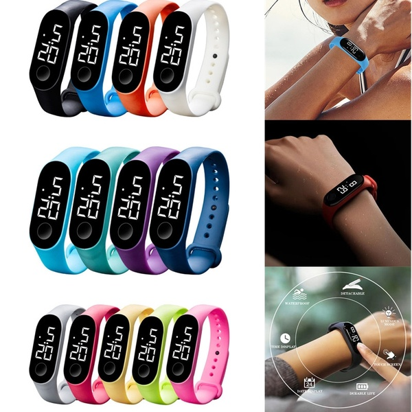Bracelet Watches Gift Electronic-Sensor LED Waterproof Luminous Men Casual Fashion Women title=