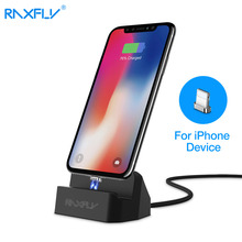 RAXFLY Magnetic Desktop Charger For iPhone 7 8 8 Plus Sync Data Dock Station For iPhone X iPod Dock charger(China)