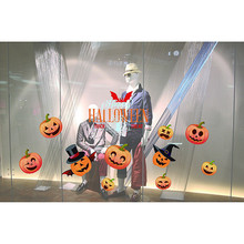 Mirror Window Stickers Halloween Decorations shopping mall Bar KTV static Window Glass paste Home cartoon decoration