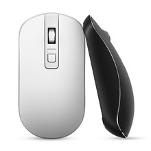 Free shipping BOW Metal wireless mouse For Apple laptop desktop computer silent game mouse battery models 2.4G