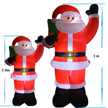 3M Large Christmas Decorations for Home 2017 inflatable Santa Claus snowman with LED Fairy Lights Xmas New Year Santa toys gifts(China)