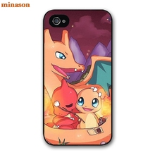 minason Super Flexible Charmander Pokemons Cover case for iphone 4 4s 5 5s 5c 6 6s 7 8 plus samsung galaxy S5 S6 Note 2 3 F0458(China)