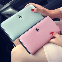 Women's fashion fresh Marca dragon color standard wallets Cute cartoon  clutch New 2016 long Money clip for girls