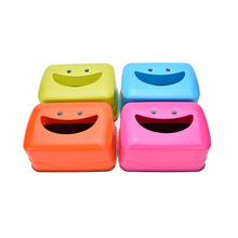 New 4 Color Smiling face Tissue Box Creative Napkin Cover Paper Holder Household Case Decor