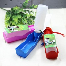 250ML/500ML Portable Pet Travel Water Bowl Bottle Dispenser Feeder Automatic Feed Water Dog Cat Drinking Fountains