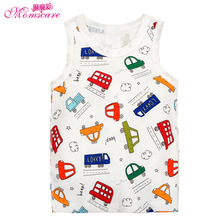 Mom's care Summer Pure Cotton Childrens Clothes Baby Boys Girls Infant Kids Sleeveless T-shirt Undershirt Vest Singlet Tops Tees