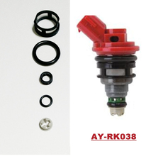 Auto part fuel injector rebuild kits for Nissan SR20 oem 16600-53J00 viton o ring filter pintle cap AY-RK038 with 10SETS(China)