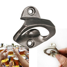 Zinc alloy Wall Mount Open Wine Beer Soda Glass Cap Bottle Opener Kitchen Bars Club Gifts(China)